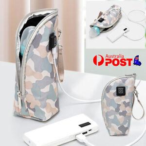 Portable USB Baby Bottle Warmer Travel Heater Feeding Milk Pouch Bag Adjustable