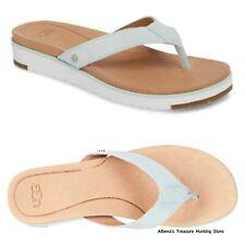 NEW $110 UGG Lorrie Flip Flop Women's Suede Sandals Aqua Size US 10/EU 41