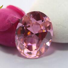 31.10CT 15X20MM UNHEATED PINK SAPPHIRE DIAMOND LOOSE GEMSTONE EMERALD CUT AAAA+