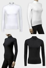 Women's Fitted No Pattern Hip Length Cotton Blend Tops & Shirts