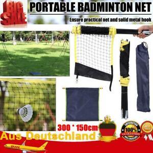 Badminton Netz mit Ständer Tennisnetz Volleyballnetz Trainingsnetz300*150cm T8G3