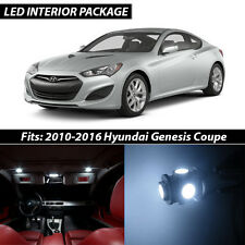 White Interior LED Lights Package Kit for 2010-2016 Hyundai Genesis Coupe