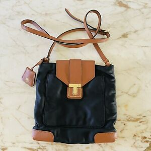 TORY BURCH Solid Black Nylon Crossbody Bag