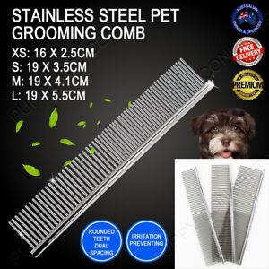 Stainless Steel Teeth Metal Comb Brush Pet Cat Dog Hair Grooming Trimmer Round