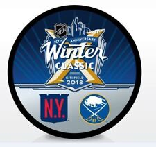 2018 WINTER CLASSIC DUEL PUCK New York Rangers vs  Buffalo Sabres Citi Field