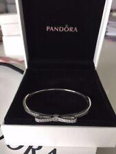 """New Authentic Pandora Sparkling Bow Bracelet #590536CZ; Size 6.9""""/17.5cm"""