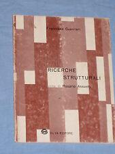 RICERCHE STRUTTURALI - Francesco Guerrieri - Silva Editore  (G5)