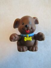 Fisher Price Little People CUTE BROWN DOG w/ BONE COLLAR FARM HOUSE PET Hanukkah