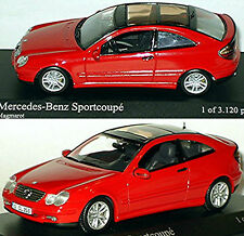 Mercedes C Coupé Sport CL203 2000-04 Rouge Red 1:43 Minichamps