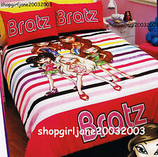 Bratz - Coloured Stripes - Single/Twin Bed Quilt Doona Duvet Cover Set