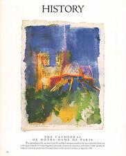 "LEROY NEIMAN BOOK PLATE PRINT PARIS  ""NOTRE DAME CATHEDRAL"""