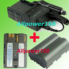 Battery + Charger for Canon EOS 40D 30D 20D 10D 5D SLR Optura Pi ZR10 ZR20 ZR25