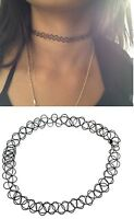 Tattoo Choker Stretch Necklace New Black Retro Henna Vintage Elastic Boho 90s