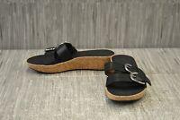 **Fitflop Duo Buckle K34-001 Slide Sandals, Women's Size 7 - Black