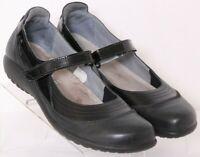 Naot Kirei Black Leather Adjustable Strap Mary Jane Flats Shoes 42 Women's US 11