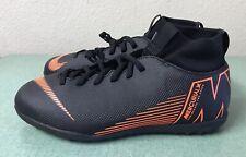 Nike Jr Mercurial SuprflyX 6 Academy TF Black Youth Sz 6Y Turf Soccer Shoes NEW!