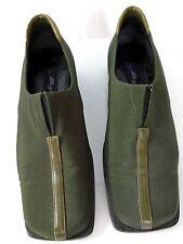 Mezlan Ladies Slipons Sz 6M Made in Spain Olive Green