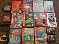 Sega Genesis 3 w/ 17 Video Games Some in Boxes Castlevania Contra Ninja Turtles