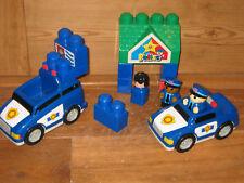 MEGA  BLOKS POLICE CAR VAN PLAYFIGURE ASSORTED BLUE CONSTRUCTION BRICKS SIGN