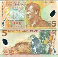 NEW ZEALAND 5 DOLLARS 2009 P 185 POLYMER UNC
