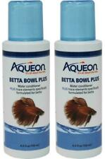 (2 Pack) Aqueon Betta Bowl Plus Formulated for Betta Water Conditioner Fish Food