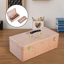 HOMCOM Portable Easel Beech Wooden Painting Box Case Artist Folding Drawing