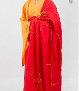 Shaolin Kung fu Kesa Monk Dress Zen Meditation Buddhist Priest Cassock Robe HOT