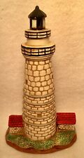 Vintage Historic Boston Harbor Lighthouse Nautical Statue By Lefton 1993 Euc