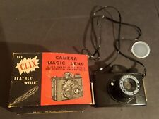 Vintage The Clix Feather Weight Camera Magic Lens Hong Kong With Box