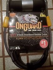 OnGuard U-Lock & Cable Double Bolt Team 5523 2 keys Bike Bicycle Hood Secure NEW