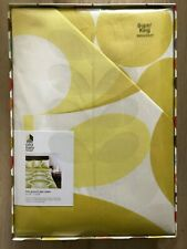 Orla Kiely Flower Oval High Quality Super King Duvet Cover, Yellow - New, Sealed