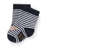 Steiff  Baby Socken  Teddy,dunkelblau  geringelt  gr.17-18(74-80)