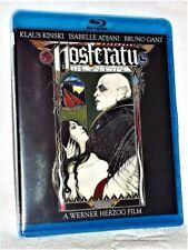 Nosferatu The Vampyre (Blu-ray, 2014) NEW foreign Klaus Kinski Isabelle Adjani