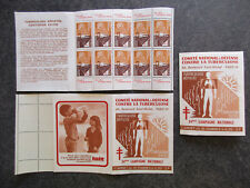 "France carnet timbres vignettes ""Tuberculose"" 1964-1965 neuf ** TBE XY126"