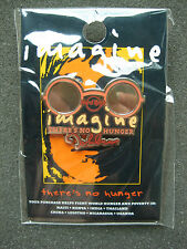 """Hard Rock Cafe Pins - HOT 2009 JOHN LENNON """"WHY"""" IMAGINE THERE'S NO HUNGER!"""