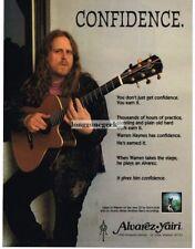 1996 ALVAREZ YAIRI Acoustic Guitar WARREN HAYNES Vtg Print Ad