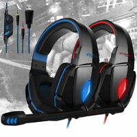 G4000 Pro PC 3.5mm Gaming Headset Stereo Mic Noise Canelling Headphones Headband