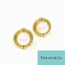 NYJEWEL TIFFANY & CO. 18K Yellow Gold 13mm South Sea Pearl Clip On Earrings