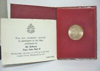 POPE JOHN PAUL II MASS INVITATION 1979 PHILA WITH COIN AND BOOK