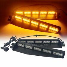 "34"" 40W LED Emergency Warn Strobe Visor Deck Split Lights Bar Dash Amber Yellow"