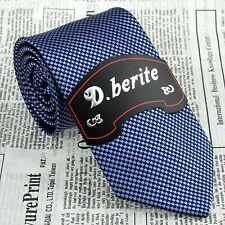 Man's Navy Blue Floral 3.15'' 100% Silk Classic Jacquard Woven Tie Necktie