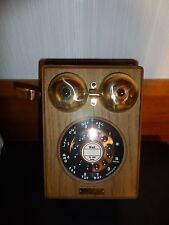 Vintage Reproduction Country Line Telephone Oak & Brass wall phone