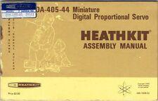 Vintage 1972 HEATHKIT MANUAL Model DA-405-44 R/C Miniature Proportional Servo