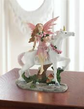 Pink Fairy With Unicorn Figurine