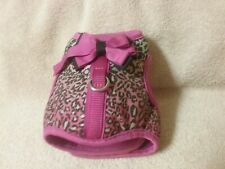 Pink Cheetah X-small Gog Harness Vest, Good Condition. Velcro