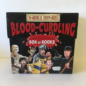 Horrible Histories Blood Curdling Box Of Books 20 Book Box Set - Great Condition