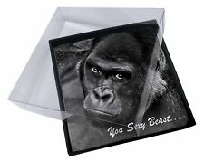 4x Gorilla 'You Sexy Beast' Picture Table Coasters Set in Gift Box, AM-12C