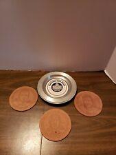 NFL Pro Football Hall Of Fame 1981  Enshrinees Dinner Coasters tray  Canton Ohio