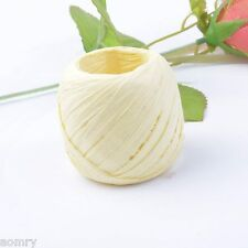 Ivory Raffia Paper Ribbon Decorating Flower Gift DIY Craft Scrapbooking Wrapping