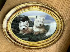 "Highland Terrier Westie Oval Plate , ""Nigel Hemming"" 8.5"" x 7"" Franklin Mint VGC"